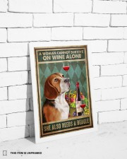 WOMAN ALSO NEEDS A BEAGLE DOG 11x17 Poster aos-poster-portrait-11x17-lifestyle-35