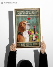 WOMAN ALSO NEEDS A BEAGLE DOG 11x17 Poster aos-poster-portrait-11x17-lifestyle-36