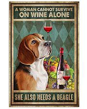 WOMAN ALSO NEEDS A BEAGLE DOG 11x17 Poster front