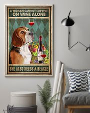 WOMAN ALSO NEEDS A BEAGLE DOG 11x17 Poster lifestyle-poster-1