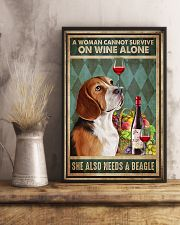 WOMAN ALSO NEEDS A BEAGLE DOG 11x17 Poster lifestyle-poster-3