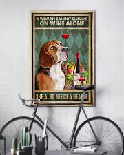 WOMAN ALSO NEEDS A BEAGLE DOG 11x17 Poster lifestyle-poster-7