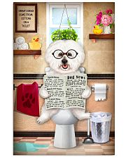 BICHON FRISE PUPPY ON THE TOILET 11x17 Poster front