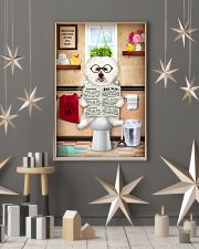 BICHON FRISE PUPPY ON THE TOILET 11x17 Poster lifestyle-holiday-poster-1