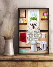 BICHON FRISE PUPPY ON THE TOILET 11x17 Poster lifestyle-poster-3