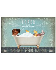 BOXER PUPPY SITTING ON A BATH SOAP 17x11 Poster front