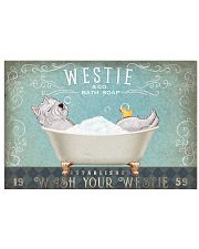 WEST HIGHLAND WHITE TERRIER SITTING ON BATH SOAP 17x11 Poster front