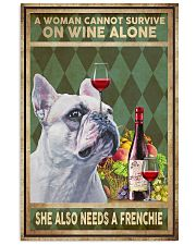 WOMAN ALSO NEEDS A FRENCH BULLDOG 11x17 Poster front