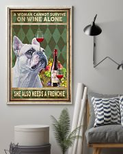 WOMAN ALSO NEEDS A FRENCH BULLDOG 11x17 Poster lifestyle-poster-1