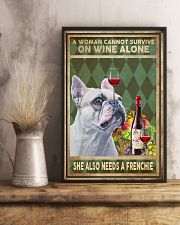 WOMAN ALSO NEEDS A FRENCH BULLDOG 11x17 Poster lifestyle-poster-3