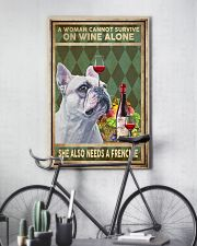 WOMAN ALSO NEEDS A FRENCH BULLDOG 11x17 Poster lifestyle-poster-7
