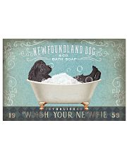 NEWFOUNDLAND PUPPIES ON BATH SOAP 17x11 Poster front