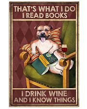 STAFFORDSHIRE DOG READ BOOK DRINK AND KNOW THINGS 11x17 Poster front