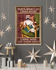 STAFFORDSHIRE DOG READ BOOK DRINK AND KNOW THINGS 11x17 Poster lifestyle-holiday-poster-1