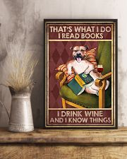 STAFFORDSHIRE DOG READ BOOK DRINK AND KNOW THINGS 11x17 Poster lifestyle-poster-3