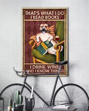 STAFFORDSHIRE DOG READ BOOK DRINK AND KNOW THINGS 11x17 Poster lifestyle-poster-7