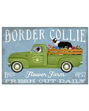 BORDER COLLIE PUPPIES DRIVE FLOWER TRUCK 17x11 Poster front
