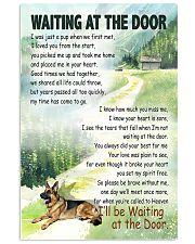 GERMAN SHEPHERD DOG WAITTING AT THE DOOR 11x17 Poster front