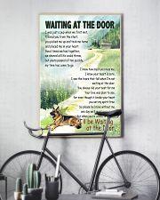 GERMAN SHEPHERD DOG WAITTING AT THE DOOR 11x17 Poster lifestyle-poster-7