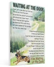 GERMAN SHEPHERD DOG WAITTING AT THE DOOR Gallery Wrapped Canvas Prints tile