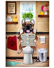 FRENCH BULLDOG SITTING ON A TOILET 11x17 Poster front
