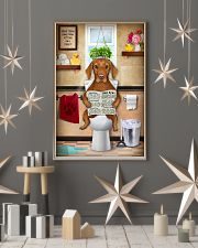 VIZSLA PUPPY SITTING ON A TOILET 11x17 Poster lifestyle-holiday-poster-1