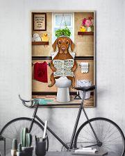 VIZSLA PUPPY SITTING ON A TOILET 11x17 Poster lifestyle-poster-7