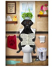 LABRAODOR PUPPY SITTING ON A TOILET 11x17 Poster front