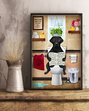 LABRAODOR PUPPY SITTING ON A TOILET 11x17 Poster lifestyle-poster-3