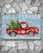 BULL TERRIER DOG RED TRUCK CHRISTMAS 17x11 Poster aos-poster-landscape-17x11-lifestyle-13