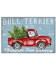 BULL TERRIER DOG RED TRUCK CHRISTMAS 17x11 Poster front
