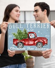 BULL TERRIER DOG RED TRUCK CHRISTMAS 17x11 Poster poster-landscape-17x11-lifestyle-20