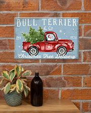 BULL TERRIER DOG RED TRUCK CHRISTMAS 17x11 Poster poster-landscape-17x11-lifestyle-23