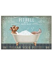 PITBULL TERRIER ON BATH TUB 17x11 Poster front