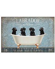 BLACK LABRADOR PUPPIES BATH TUB 17x11 Poster front