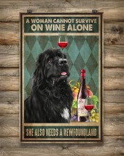 WOMAN ALSO NEEDS A NEWFOUNDLAND DOG 11x17 Poster aos-poster-portrait-11x17-lifestyle-14