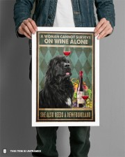 WOMAN ALSO NEEDS A NEWFOUNDLAND DOG 11x17 Poster aos-poster-portrait-11x17-lifestyle-28