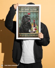 WOMAN ALSO NEEDS A NEWFOUNDLAND DOG 11x17 Poster aos-poster-portrait-11x17-lifestyle-31