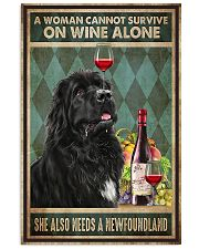 WOMAN ALSO NEEDS A NEWFOUNDLAND DOG 11x17 Poster front