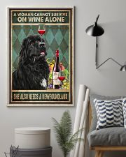 WOMAN ALSO NEEDS A NEWFOUNDLAND DOG 11x17 Poster lifestyle-poster-1