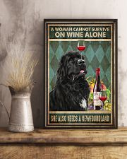 WOMAN ALSO NEEDS A NEWFOUNDLAND DOG 11x17 Poster lifestyle-poster-3