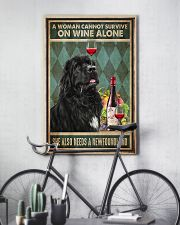 WOMAN ALSO NEEDS A NEWFOUNDLAND DOG 11x17 Poster lifestyle-poster-7