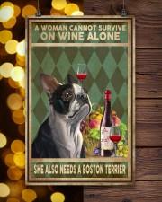 WOMAN ALSO NEEDS A BOSTON TERRIER DOG 11x17 Poster aos-poster-portrait-11x17-lifestyle-24