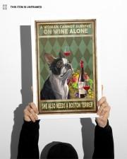 WOMAN ALSO NEEDS A BOSTON TERRIER DOG 11x17 Poster aos-poster-portrait-11x17-lifestyle-36
