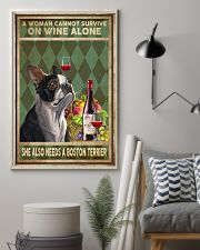 WOMAN ALSO NEEDS A BOSTON TERRIER DOG 11x17 Poster lifestyle-poster-1