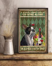 WOMAN ALSO NEEDS A BOSTON TERRIER DOG 11x17 Poster lifestyle-poster-3
