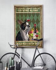 WOMAN ALSO NEEDS A BOSTON TERRIER DOG 11x17 Poster lifestyle-poster-7
