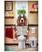 BASSET HOUND PUPPY SITTING ON A TOILET 11x17 Poster front