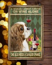 WOMAN ALSO NEEDS A CAVALIER SPANIEL DOG 11x17 Poster aos-poster-portrait-11x17-lifestyle-24