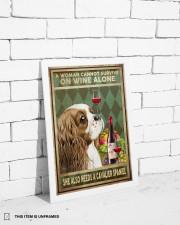 WOMAN ALSO NEEDS A CAVALIER SPANIEL DOG 11x17 Poster aos-poster-portrait-11x17-lifestyle-35